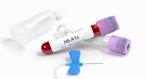 HbA1c tube with blood collection